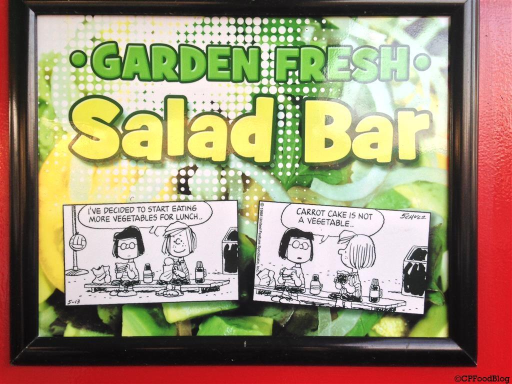 140508 Cedar Point Joe Cool Café Salad Bar Sign