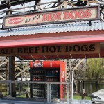 140508 Cedar Point Sugardale Hot Dogs Stand Sign