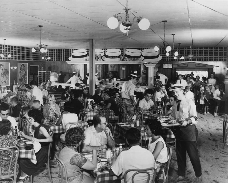 1971 Cedar Point Silver Dollar Cafe Interior