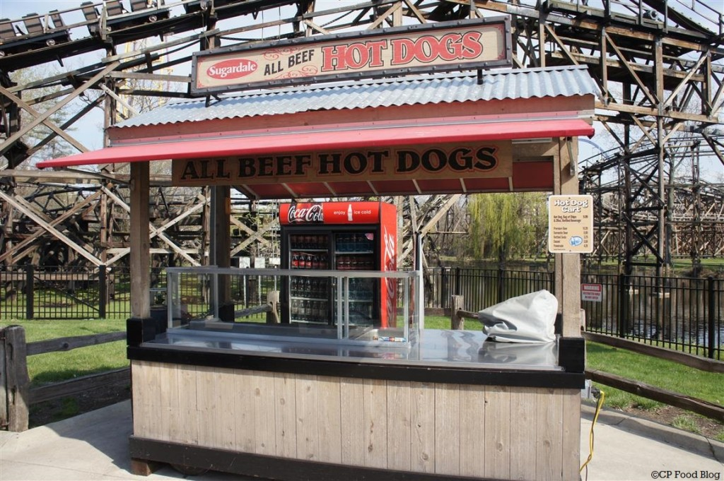 140508 Cedar Point Sugardale All Beef Hot Dogs Cart