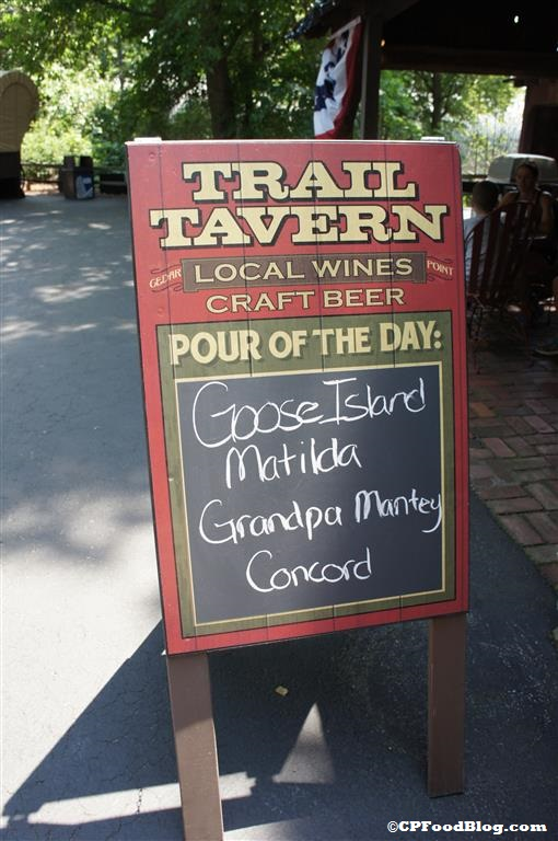 140628 Cedar Point Trail Tavern Exterior Specials Sign