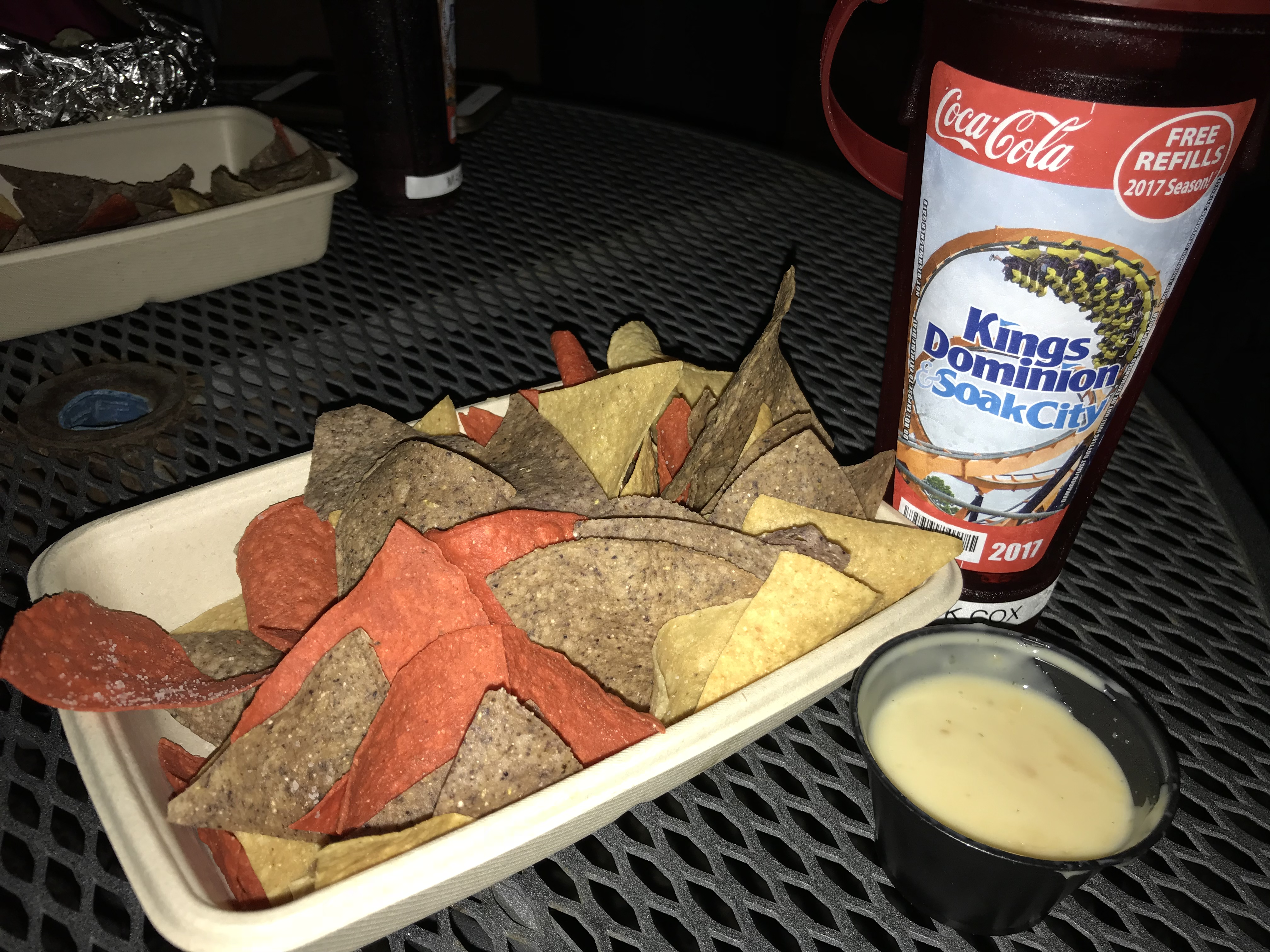 171014 Kings Dominion Border Cafe Chips & Queso ©Nick Cox