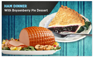 Knott's Berry Farm Ham Thanksgiving Dinner with Boysenberry Pie