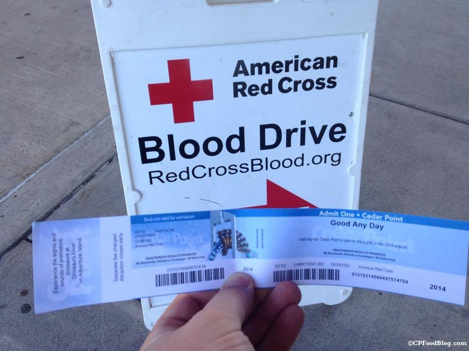 140716 Red Cross Blood Drive Cedar Point Ticket