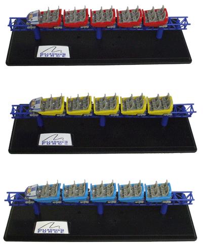Millennium Force Train Replicas