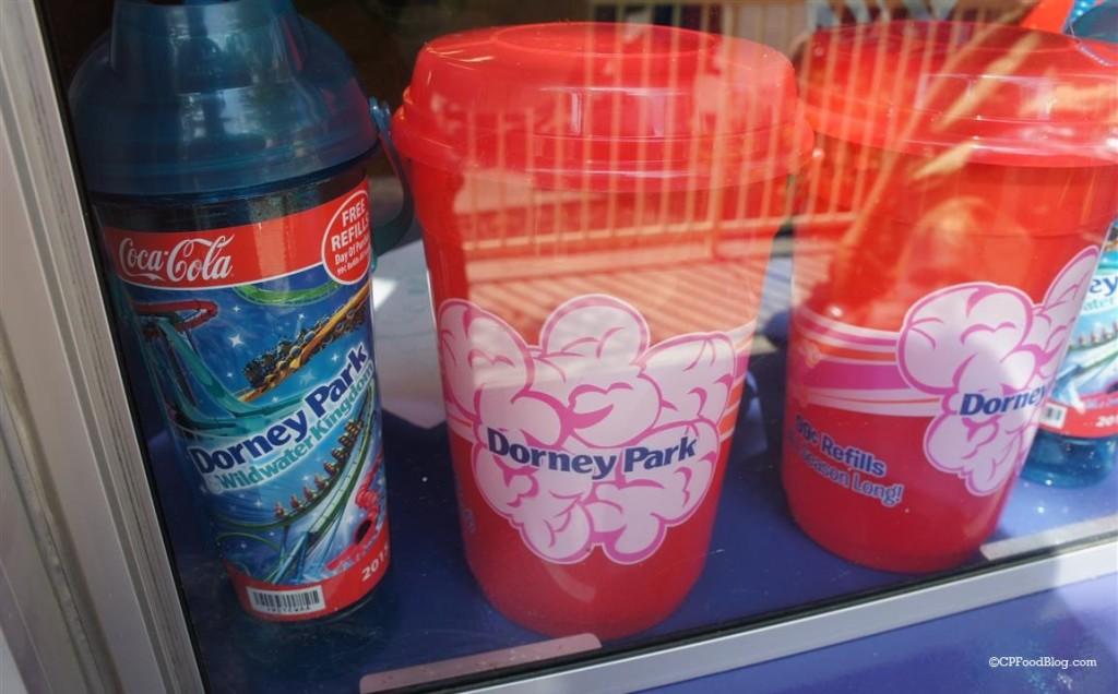 150905 Dorney Park Popcorn Bucket and 2015 Souvenir Cup