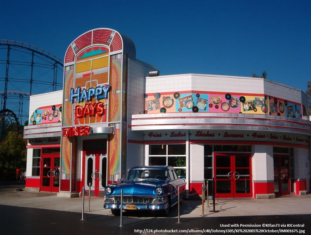 2005 Kings Island Happy Days Diner (©KIfan73 via KICentral)