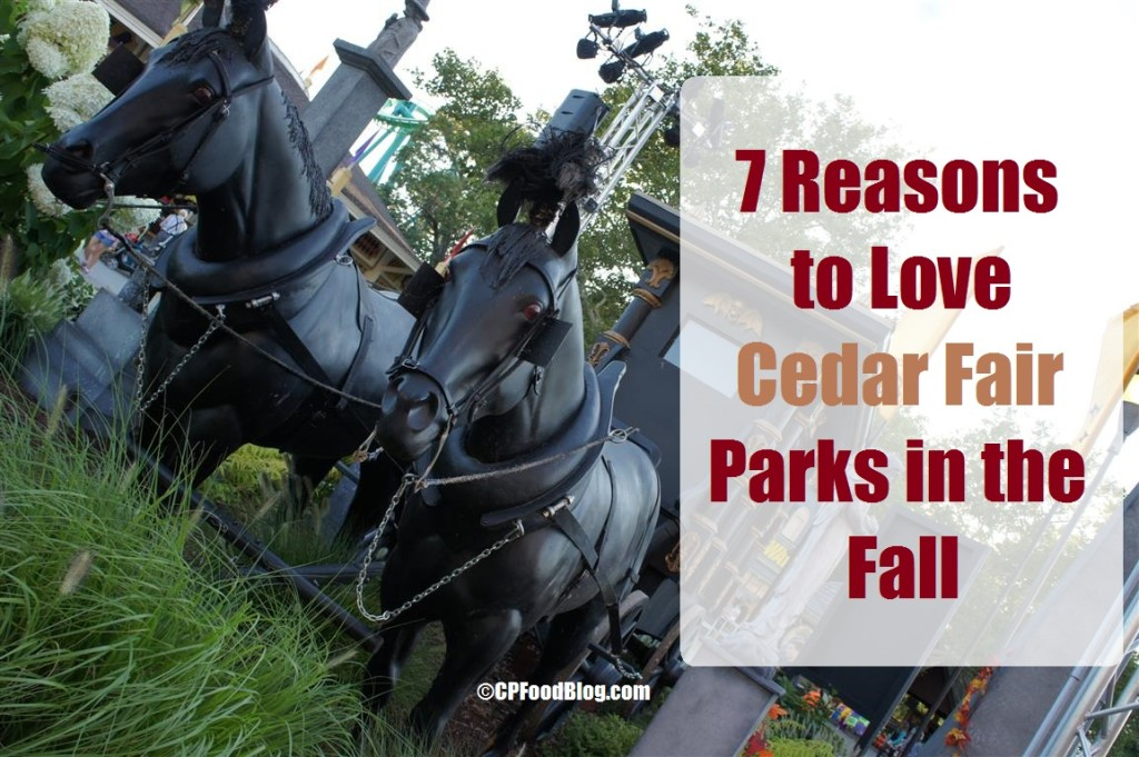 150812 Cedar Point Midway Horse-Drawn Hearse (7 Reasons to Love Cedar Fair Parks in the Fall)