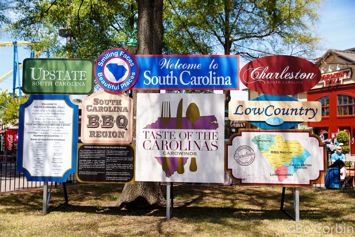 160416 Carowinds Taste of the Carolinas Signs ©Bo Corbin