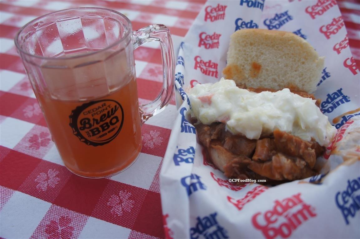 160527 Cedar Point Brew & BBQ Pork Shoulder with Slaw