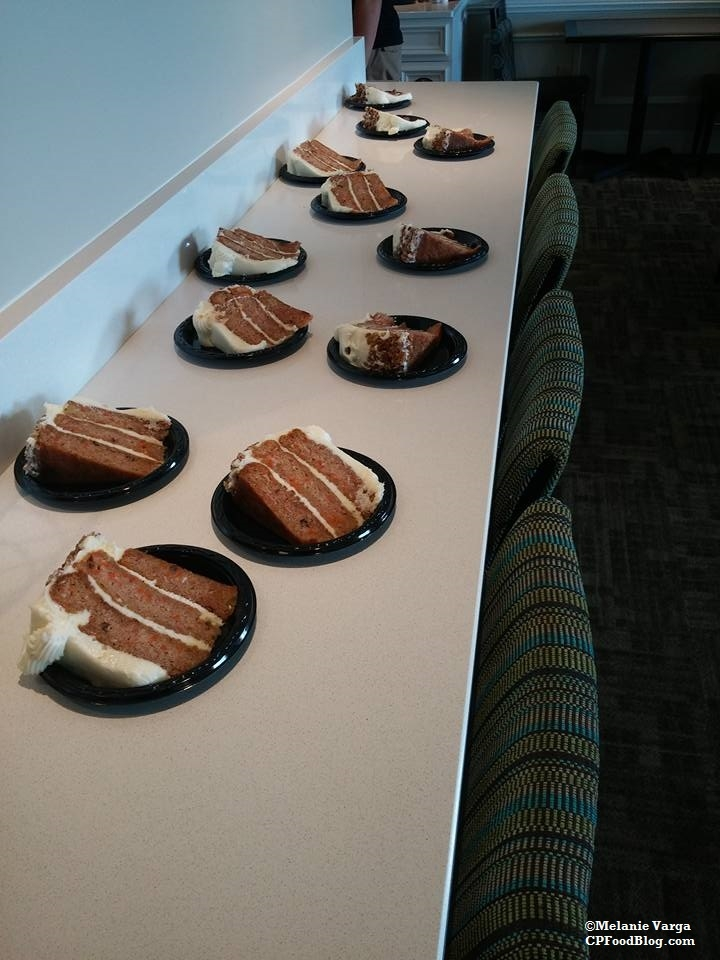 160603 Cedar Point Concierge Suite, Evening Reception Carrot Cake