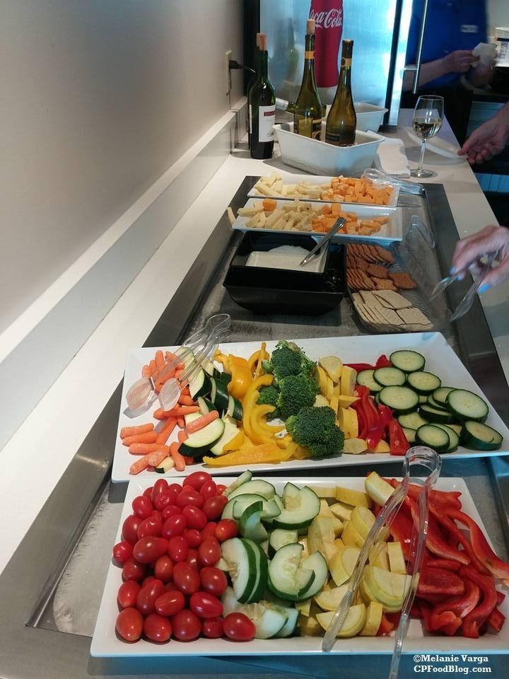 160603 Cedar Point Concierge Suite, Evening Reception Veggies, Cheese & Wine