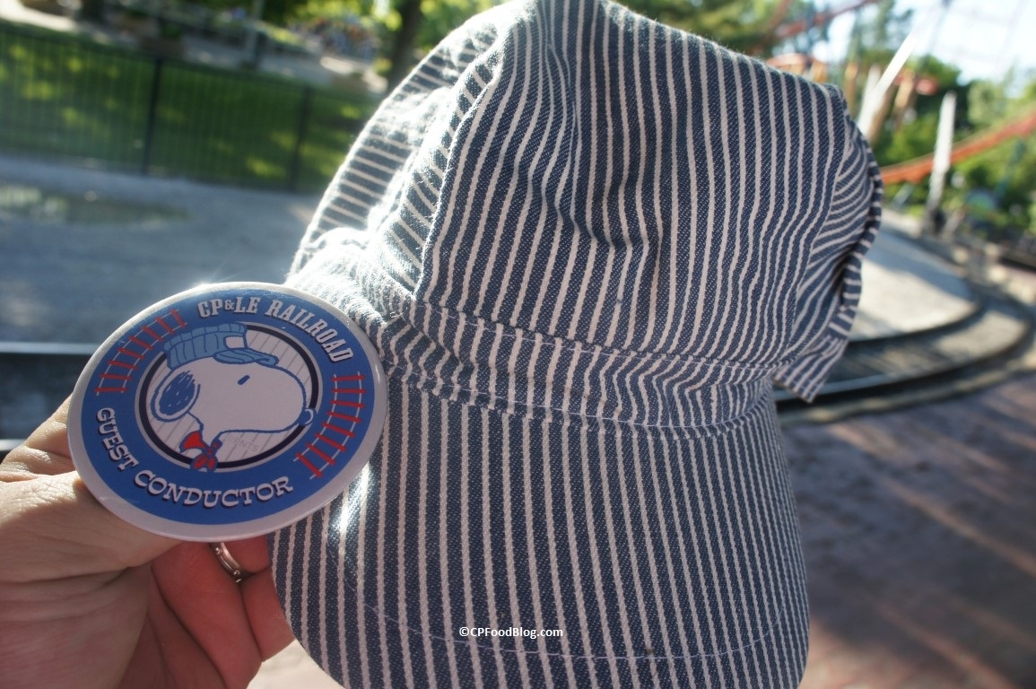 160608 Cedar Point Guest Conductor Button and Hat