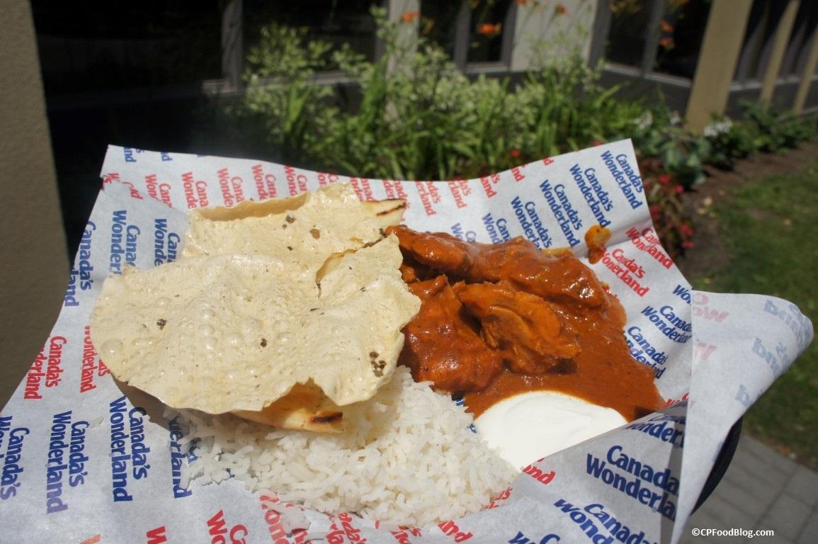 160625 Canada's Wonderland Backlot Cafe Bombay Butter Chicken