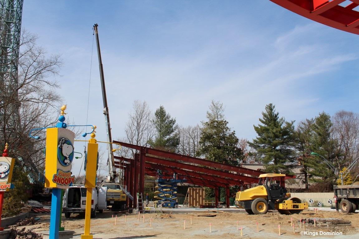 170221 Kings Dominion Joe Cool's Pit Stop Construction 2