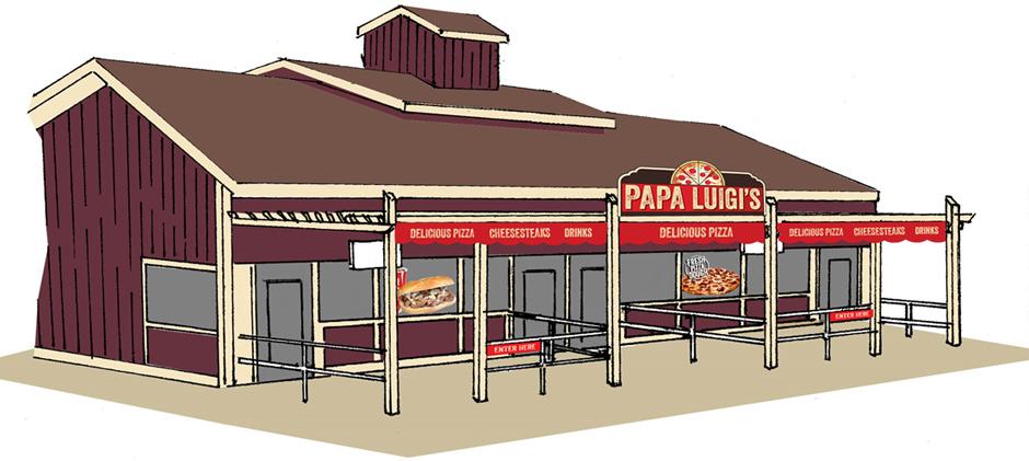 2017 Dorney Park Papa Luigi's Pizza Concept Art