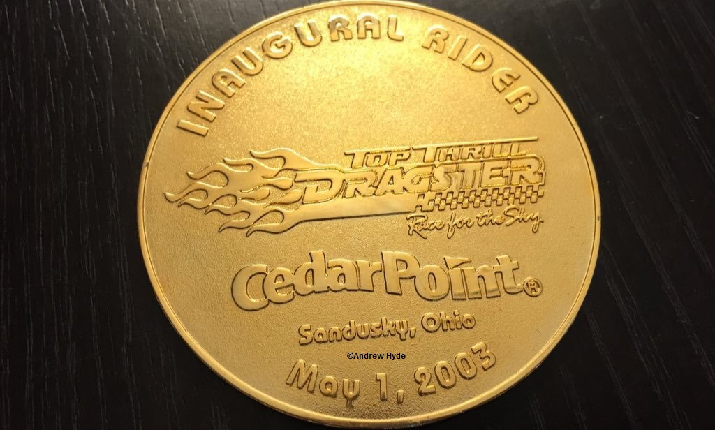 030501 Cedar Point Top Thrill Dragser Inaugural Rider Coin ©Andrew Hyde