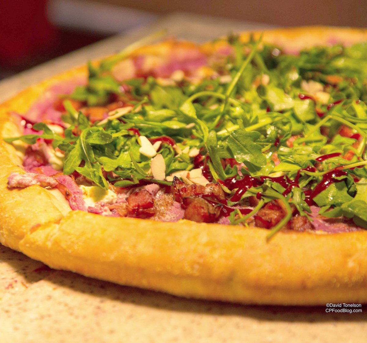 170314 Knott's Berry Farm Boysenberry Pizza 1