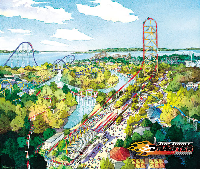 2003 Cedar Point Top Thrill Dragster Concept Art 1