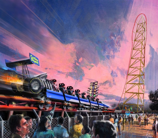 2003 Cedar Point Top Thrill Dragster Concept Art 2