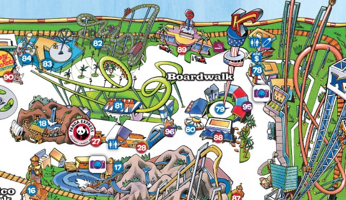 2016 Knott's Map Boomerang Blowup