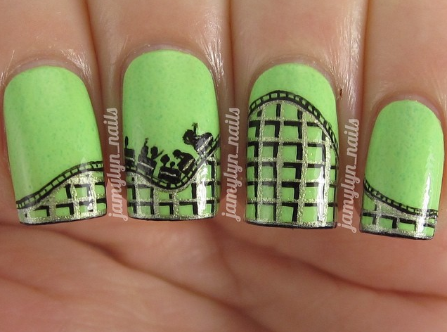 Amusement Park Nail Art ©Jamlyn_Nails