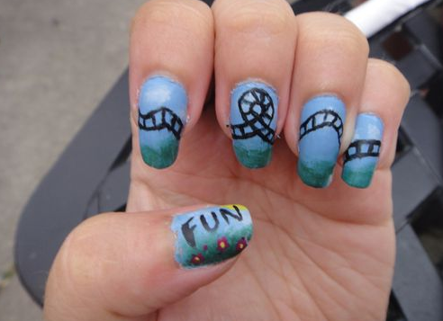 Roller Coaster Fun Nails