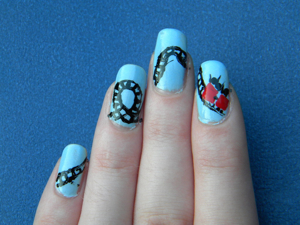Roller Coaster Nails ©Nails-by-Nette