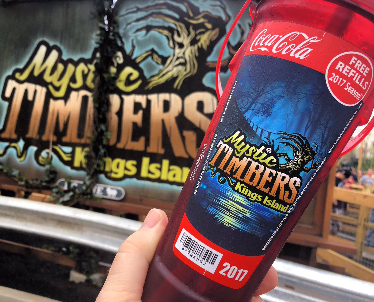 170415 kings island 2017 mystic timbers souvenir bottle