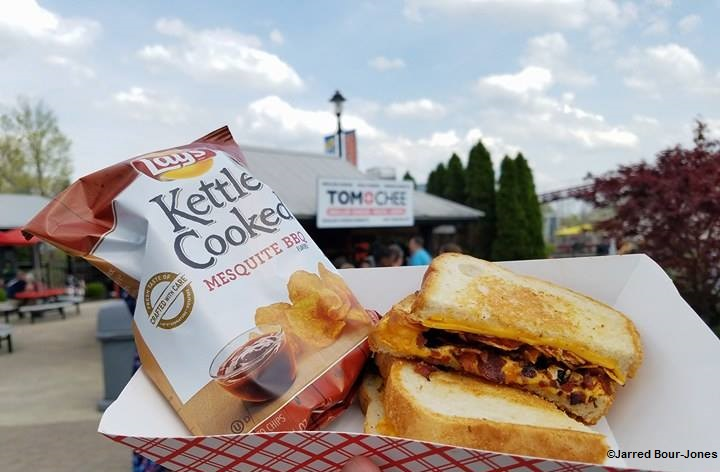 170415 Kings Island Tom+Chee BBQ Bacon Grilled Cheese ©Jarred Bour-Jones