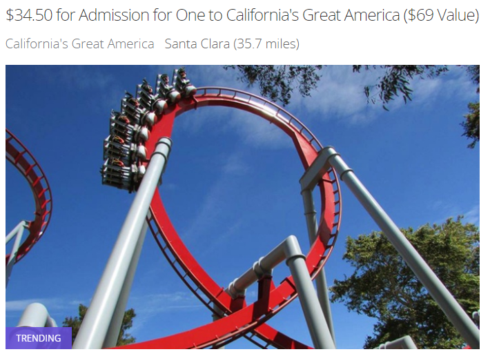 April 2017 California's Great America Groupon
