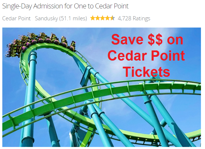 July 2017 Cedar Point Groupon