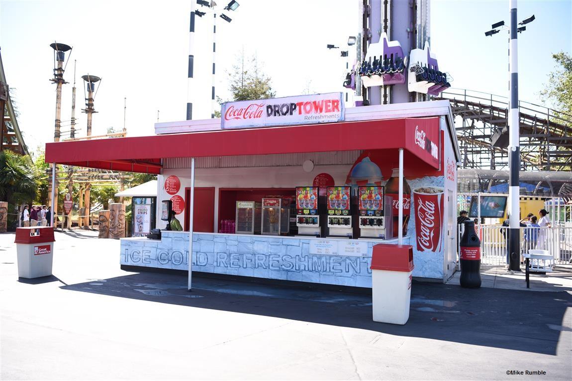 170513 California's Great America Coca-Cola Drop Tower Refreshments