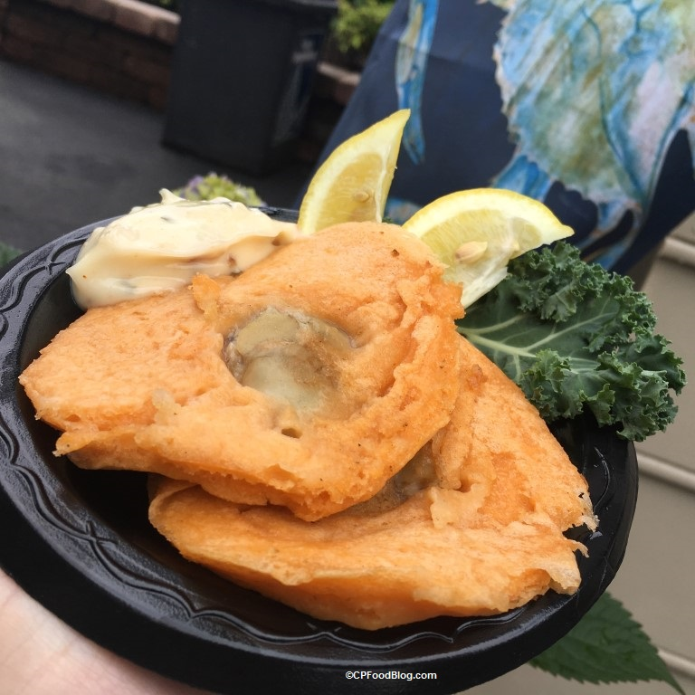 170513 Kings Dominion Taste of Virginia Seared Oyster Cake with Bacon Aioli