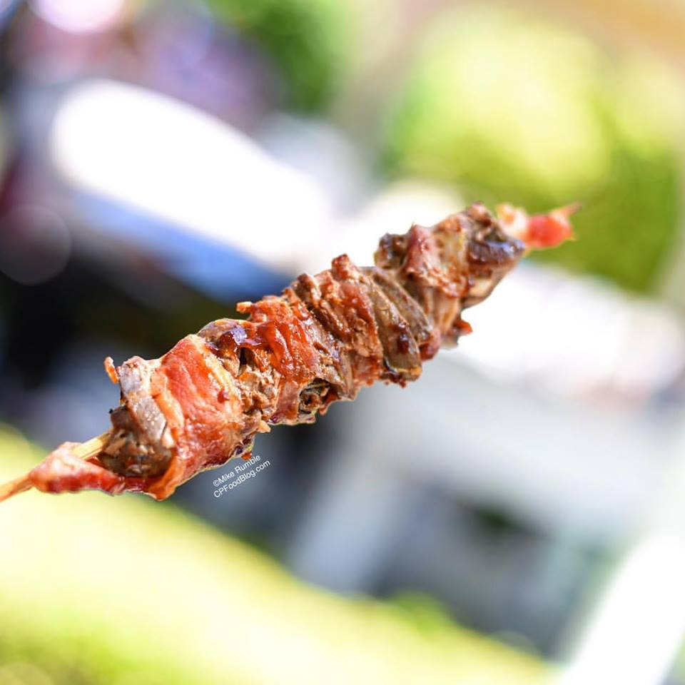170527 California's Great America Red White Brews Bacon Wrapped Chicken Hearts ©Mike Rumble
