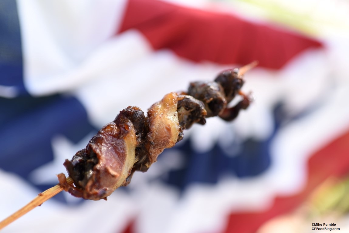 170528 California's Great America Red White Brews Bacon Wrapped Chicken Hearts ©Mike Rumble
