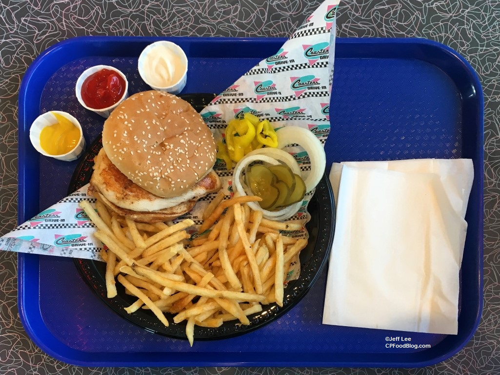 170512 Knott's Berry Farm Coaster's Drive-In Grilled Chicken Sandwich ©Jeff Lee (1)