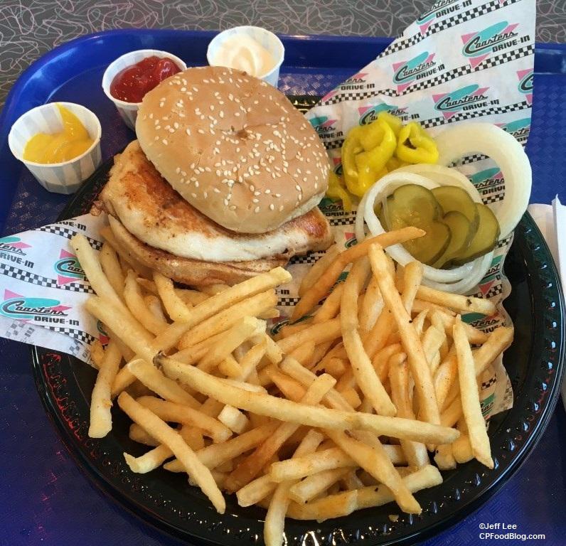 170512 Knott's Berry Farm Coaster's Drive-In Grilled Chicken Sandwich ©Jeff Lee (2)