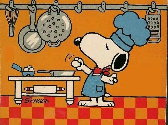Snoopy Cooking Comic