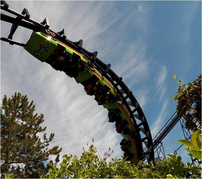 Darien Lake Viper Roller Coaster ©Darien Lake
