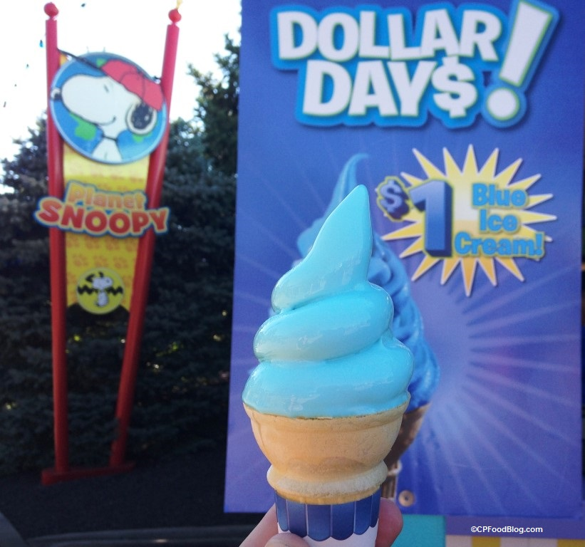 160903 Kings Island Dollar Days Blue Ice Cream