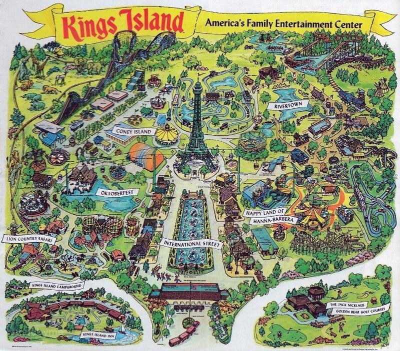 Old Kings Island Park Maps