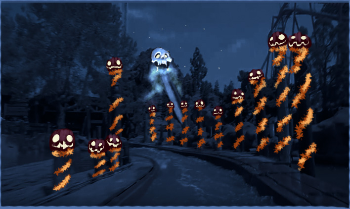 Timber Mountain Log Ride- Halloween Hootenanny Exterior Concept Art