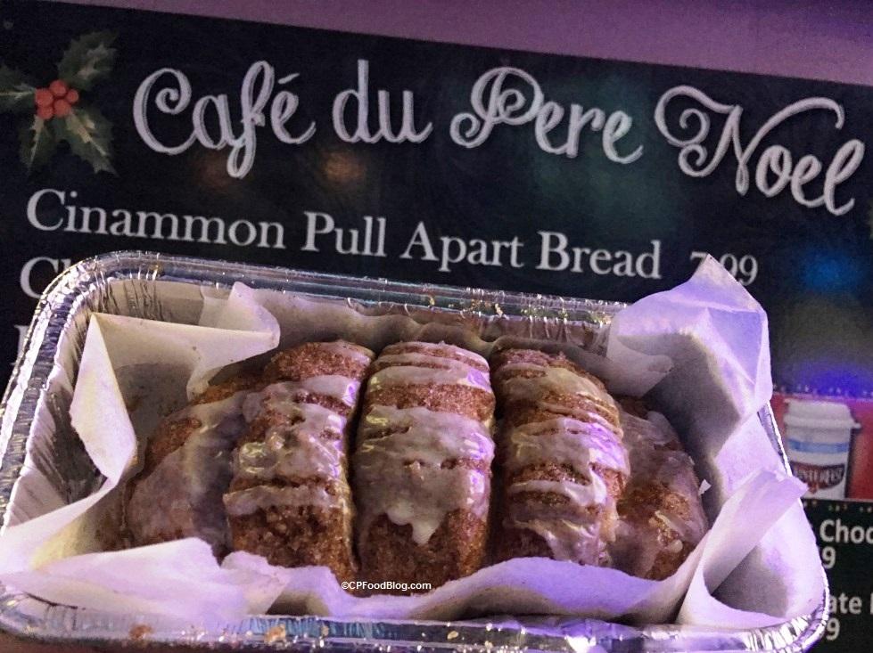 171124 Kings Island Winterfest Café du Pere Noel Cinnamon Pull Apart Bread