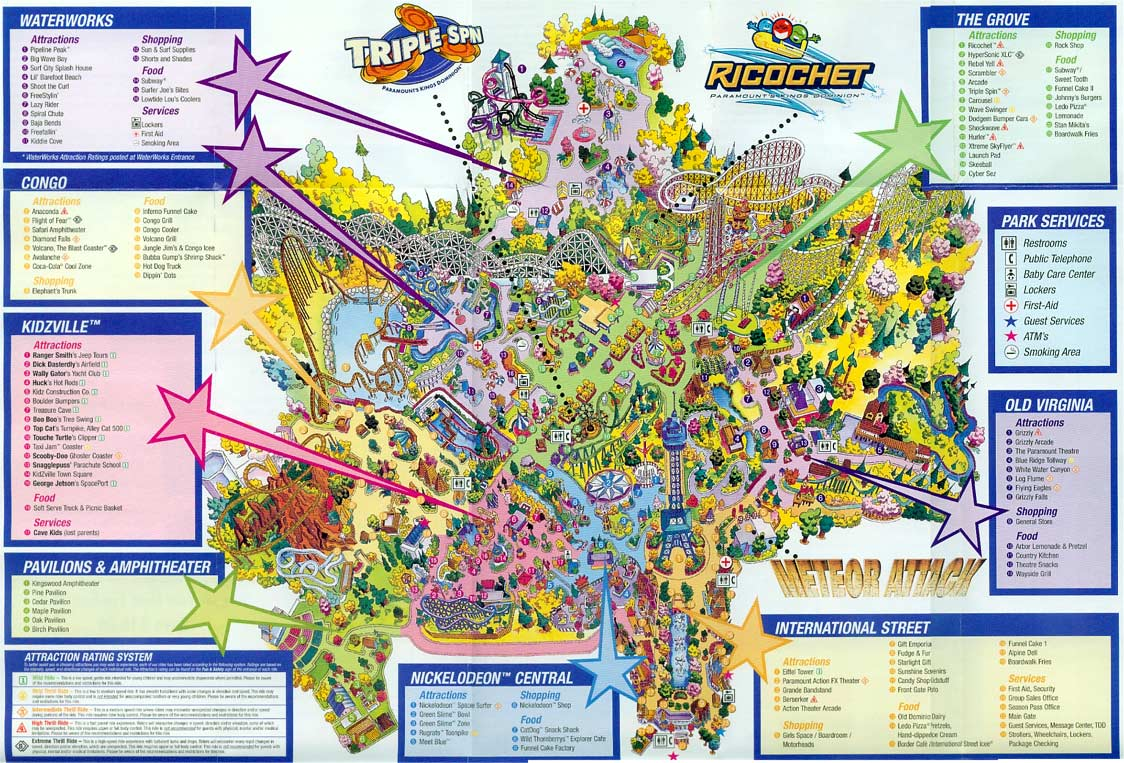 Kings Dominion Historical Maps - CP Food Blog on