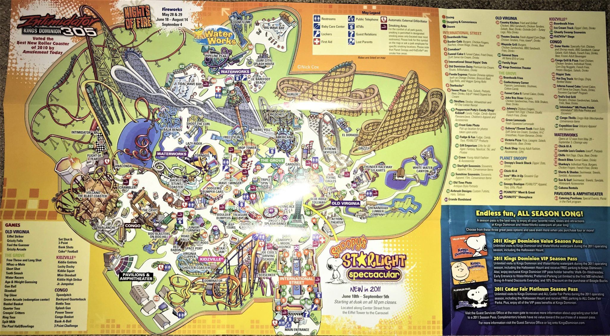 Map Of Canadas Wonderland 2017.Kings Dominion Historical Maps Cp Food Blog