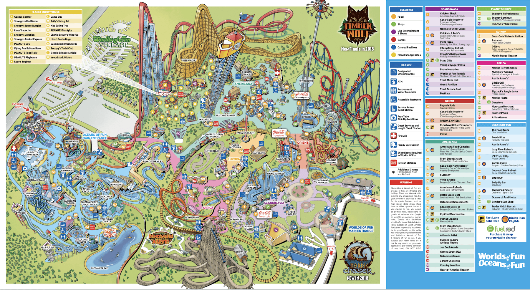 Map Of Canadas Wonderland 2017.Worlds Of Fun Historical Maps Cp Food Blog