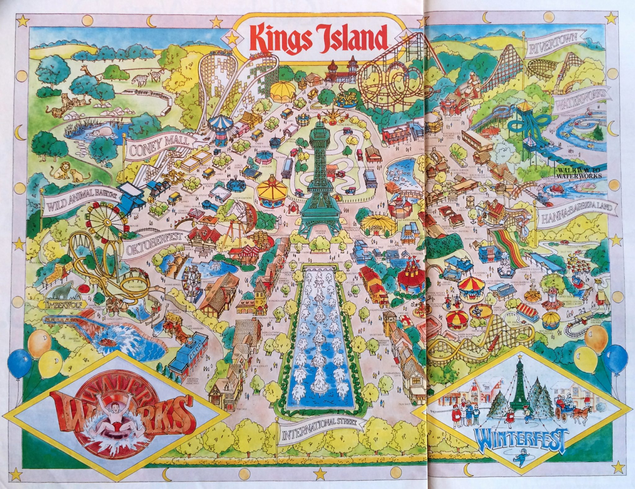 Kings Island Historical Maps - CP Food Blog on new york city new jersey map, wild river country map, apostle islands map, carowinds map, north island naval base map, islands of adventure map, canada's wonderland map, kiddieland map, paramount park map, disney's blizzard beach map, coney island fun map, westbury new york map, beach waterpark map, six flags map, cincinnati map, cedar point map, oaks amusement park map, michigan adventure map, long island satellite map, disneyland map,