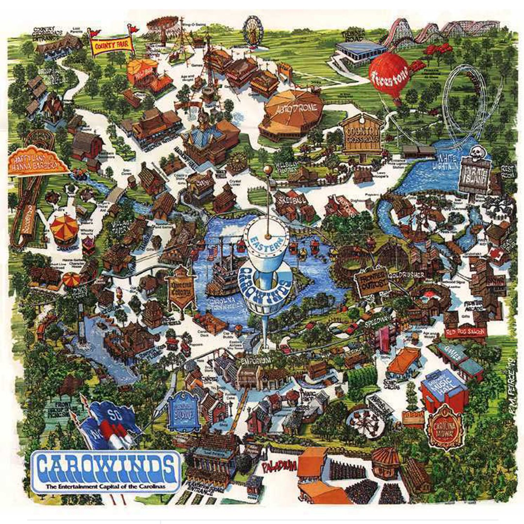 Carowinds Historical Maps - CP Food Blog on halloween map, knott's scary farm map, starbucks map, printable map of arden nc on map, sobe map, 2012 canada's wonderland map, carowinds map, dorney park map, paramount canada's wonderland map,