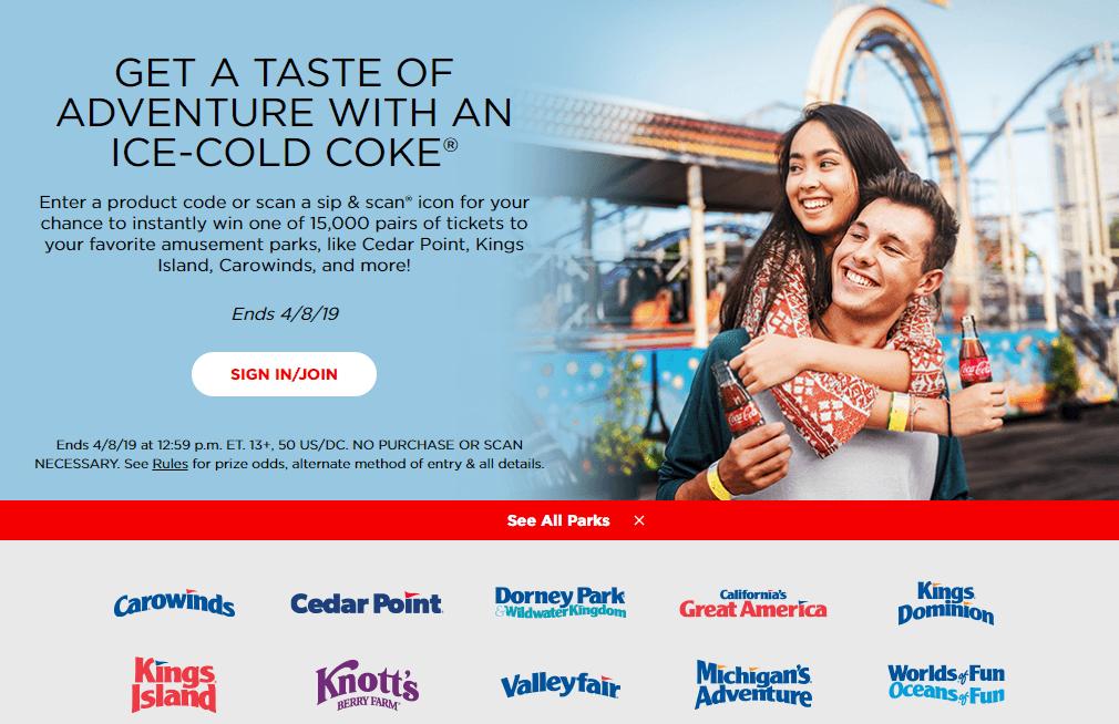 2019 Coke Rewards: Win Cedar Fair Park Tickets - CP Food Blog